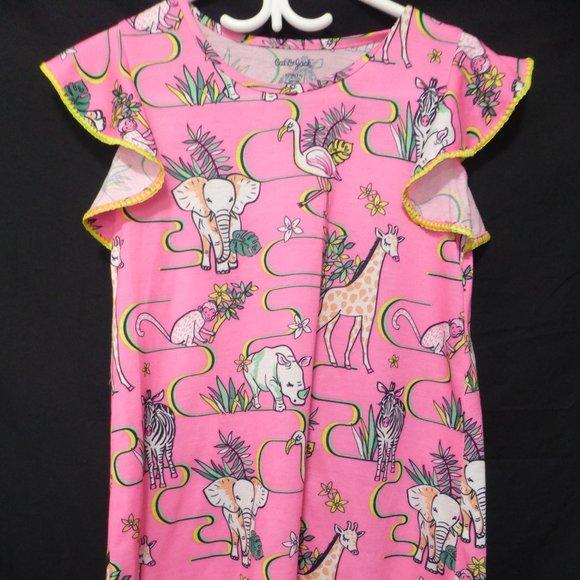 CAT AND JACK, size 10-12, large animal print dress